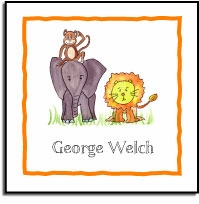 personalized vinyl labels � zoo friends