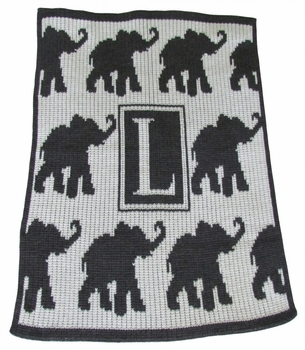 personalized walking elephants stroller blanket