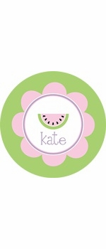 personalized watermelon plate (style 2p)