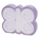 personalized white butterfly coin bank