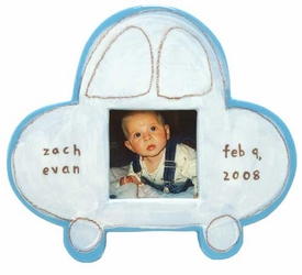 personalized white car ceramic frame