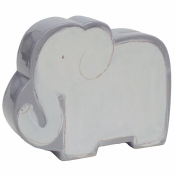 personalized white elephant coin bank