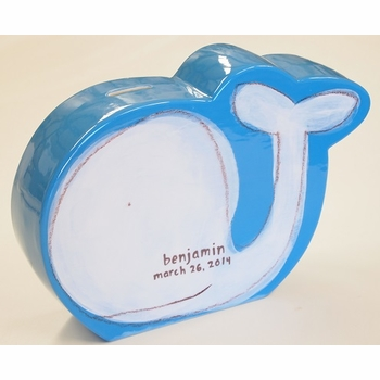 personalized white whale coin bank