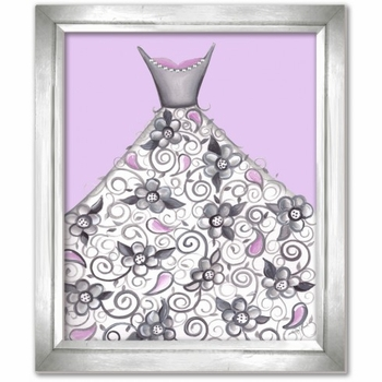 petal princess in lavender wall art