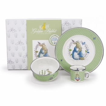 peter rabbit keepsake dish set (bowl, plate, mug)