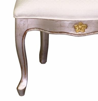 petit french chair - silver with gold