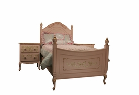 petite amie bed with hand painted details