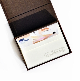 petite brown silk stationery box - p9