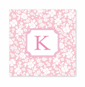 petite flower petal square paper coaster<br>set of 50