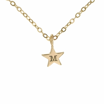 petite gold star necklace