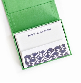 petite green silk stationery box - p15