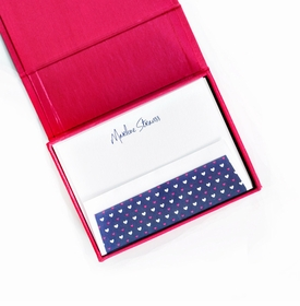petite magenta silk stationery box - p11