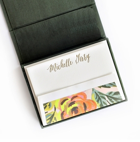 petite pine silk stationery box - p13