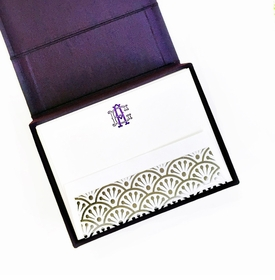 petite purple silk stationery box - p8