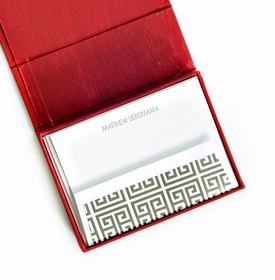petite red silk stationery box - p4
