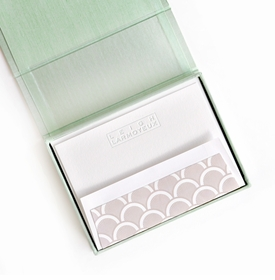 petite seafoam silk stationery box - p14
