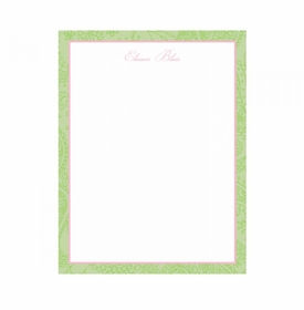 petty paisley pink children's stationery