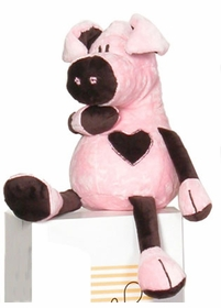 pink and chocolate pig by moncalin