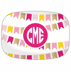 Pink Banner Platters