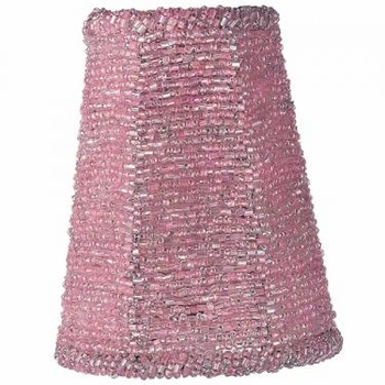 pink beaded sconce shade