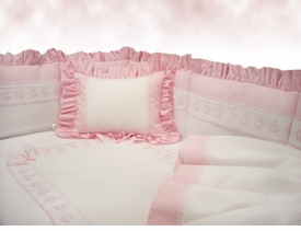 pink bows primavera crib bedding