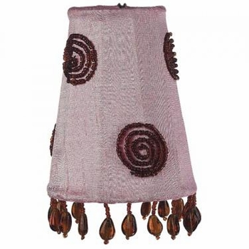 pink & brown swirl sconce shade