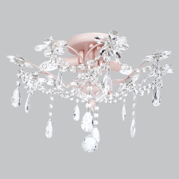 pink ceiling mount chandelier
