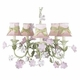 pink chandelier shade-green sash