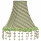 pink check pearl flower chandelier shade