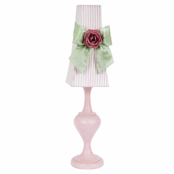 pink curvature lamp with candy stripe shade
