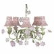 pink daisy pearl chandelier shade