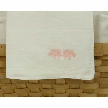 pink elephant nappie burp cloths by sweet william