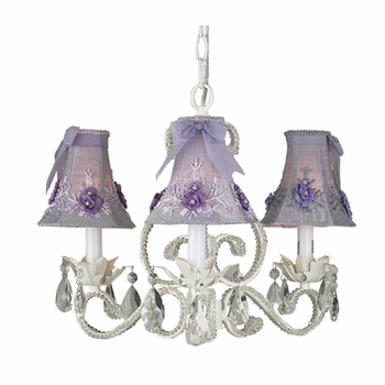 pink floral bouquet chandelier shade
