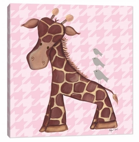 pink giraffe wall art