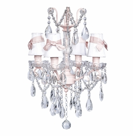 pink glass center chandelier