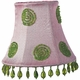 pink/green swirl chandelier shade