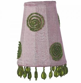pink & green swirl sconce shade