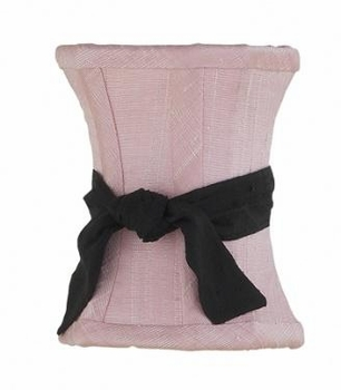 pink hourglass shade-black sash
