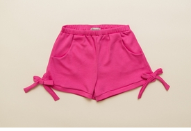 pink jersey bow shorts