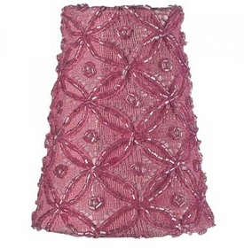 pink lace diamond sconce shade