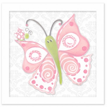 pink lady butterfly wall art
