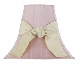 pink lamp shade-yellow sash
