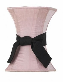 pink medium hourglass shade-black sash