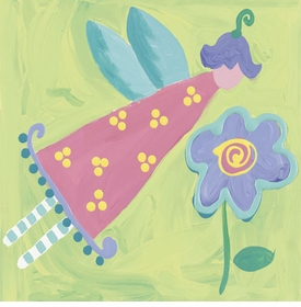 pink petal fairy canvas reproduction