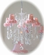 Pink rose-shades for Chandeliers or sconces