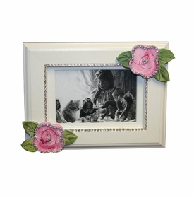pink roses with bling picture frame