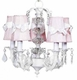 pink sconce shade-white sash