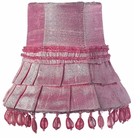 pink skirt dangle chandelier shade