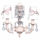 pink stacked glass ball bright idea chandelier