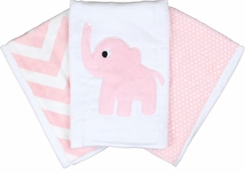 pink stripe elephant(Set of three)